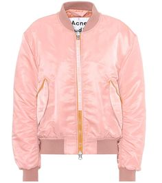 ACNE STUDIOS -  Clea bomber jacket - Acne Studios' padded Clea bomber jacket has been crafted from a sheeny pink-hued fabric and has a cool branded zip pull for instant recognition. - @ www.mytheresa.com