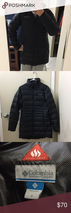 Black Columbia Omniheat Winter Jacket Sz M - used Black Columbia jacket, Sz M. I washed this and then hang dried it and it has never been quite as fluffy as it was before. Otherwise in great condition, clean! Willing to negotiate price. Columbia Jackets & Coats Puffers