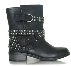 Chinese Laundry Vegan Showstopper Studded Biker Boots