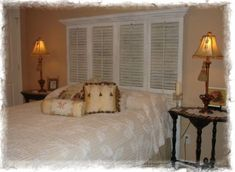 I have a bunch of old shutters I was going to take to the reuse store...but now I see I could make some headboards.