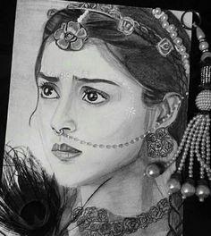 Cute pencil drawing of sneha Pencil Sketch Portrait, Pencil Sketch Drawing, Girl Drawing Sketches, Portrait Sketches, Pencil Art Drawings, Hard Drawings, Krishna Drawing, Krishna Painting, Krishna Art