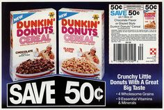 Ralston - Dunkin' Donuts Cereal - cicular coupon - December 1988