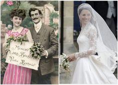 kate-middleton, lily bouquet, vintage french wedding, muguet mariage