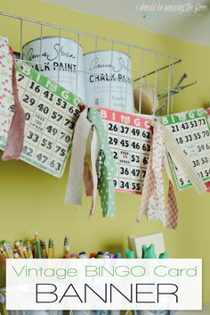 This Vintage BINGO Card Banner is a fun way to add a touch of retro to any…