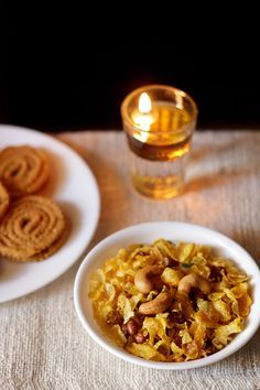 cornflakes or makai chivda recipe for diwali - crisp, crunchy, sweet & savory fried mixture made with corn flakes, dry fruits and spices. step by step recipe.