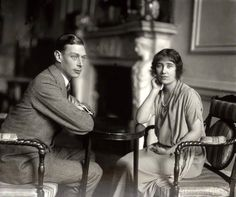 The Parents of Queen Elizabeth II , King George VI and the Queen Mother, Lady Elizabeth Bowes-Lyon   (source historysquee tumblr)