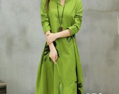 Loose big yards linen female long dresswomen dresses by pppyesr