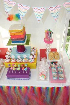 "Photo 1 of 37: Care Bear inspired :) / Birthday ""Rainbow Chevron "" | Catch My Party"