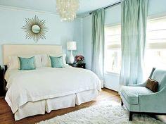 dormitorio cuarto habitacion pintado de azul claro