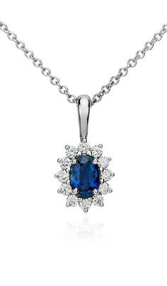 Sapphire and Diamond Pendant | Click for your chance to win a $1000 gift card from #BlueNile!