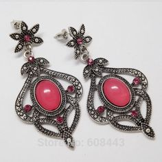 NWT Retro drop earrings Brand new and elegant, these earrings are about 6cm long and 3cm wide and just perfect for your vintage/retro look. Feel free to ask me questions. Great discount on bundles! Thank you and namaste  Jewelry Earrings