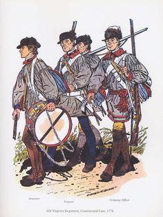 PLATES- CMH: 6th Virginia Regiment, Continental Line, 1776, by H. Charles McBarron, Jr.