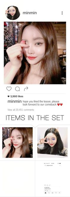 """""""⇉ Instagram post #3: Minseo"""" by n0t-official ❤ liked on Polyvore featuring art"""