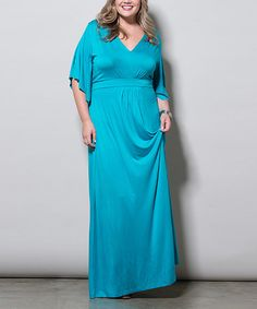 Look what I found on #zulily! Turquoise Joan Maxi Dress - Plus by Sealed With a Kiss Designs #zulilyfinds