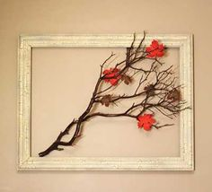 manzanita branch in an open frame for seasonal decoration fall-decorations Thanksgiving Tablescapes, Thanksgiving Decorations, Seasonal Decor, Manzanita Branches, Tree Branches, Rama Seca, Decoration Christmas, Holiday Decor, Holiday Ideas