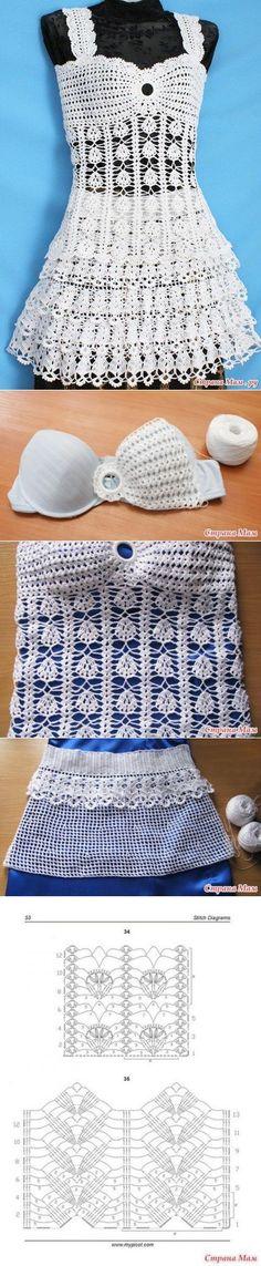 Вязание: топ и юбка.
