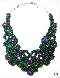 Colar 100% feito à mão/ Handmade necklace/ www.ednarochaatelier.com
