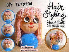 How to make plastic bottles hairstyling dollhairstyling-doll-1