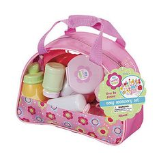 Toysmith Baby Care Accessory Kit, Color: Multi - JCPenney Baby Doll Diaper Bag, Baby Doll Toys, Toddler Toys, Baby Doll Furniture, Target Purse, Baby Learning Toys, American Girl Doll Sets, Barbie Bridal, Baby Doll Accessories