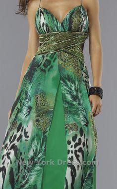 Jungle themed weddings - green with animal prints.