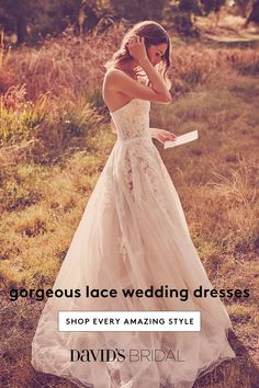 Brides imagine finding the most suitable wedding day, but for this they need the best wedding outfit, with the bridesmaid's dresses enhancing the brides dress. Here are a number of ideas on wedding dresses. Wedding Look. Wedding Dress Shopping, Perfect Wedding Dress, Wedding Bride, Dream Wedding, Lace Wedding, Wedding Tips, Garden Wedding, Prom Dresses, Wedding Dresses