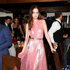 Laura Love at the Chanel and Charles Finch pre-Oscars dinner. -Wmag