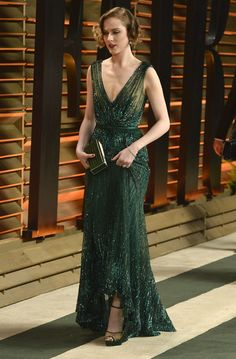 Evan Rachel Wood Photos - Actress Evan Rachel Wood attends the 2014 Vanity Fair Oscar Party hosted by Graydon Carter on March 2014 in West Hollywood, California. - Stars at the Vanity Fair Oscar Party Gala Dresses, Event Dresses, Formal Dresses, Evan Rachel Wood, Pretty Dresses, Beautiful Dresses, Green Gown, Dream Dress, Special Occasion Dresses