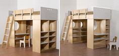 Loft Bed with Desk and Storage Cabinets – Dumbo Loft Bed from Casa Kids   Kidsomania