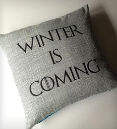 Winter is Coming Pillow Cover by Passive Juice Motel on Scoutmob Shoppe