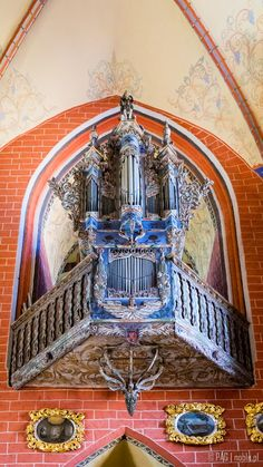 The organ of the parish Church of the Assumption of the Blessed Virgin Mary in Chelmno (Culm), Poland