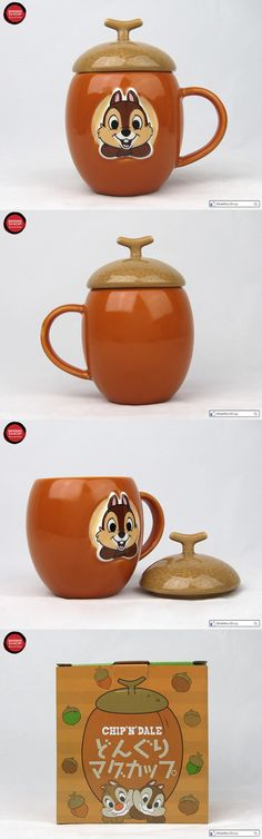 mug display Disney Chip 'n' Dale acorn shape ceramics Mug Cup with Box (Chip) Disney Coffee Mugs, Disney Mugs, My Coffee, Coffee Cups, Coffee Mug Display, Pug Mug, Ceramic Boxes, Disney Kitchen, Teapots And Cups