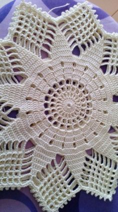 Crochet Round Cream White Doily Centerpiece Crochet Home Decor Crochet Table Decor made in Lithuania Col Crochet, Crochet Doily Rug, Crochet Beanie Pattern, Crochet Doily Patterns, Crochet Tablecloth, Crochet Round, Thread Crochet, Filet Crochet, Crochet Designs