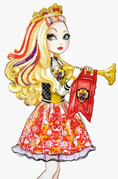ever after high school spirit apple white artwork