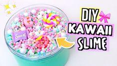 Kawaii Slimes How To Make The Cutest Slimes! Glitter Timberlands, Glitter Converse, Diy Kawaii, Kawaii Crafts, Cool Slime Recipes, Easy Slime Recipe, Homemade Slime, Diy Slime, Gillian Bower