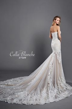 The breath-taking YASMINE gown by Calla Blanche. Call us at 941-925-5888 to schedule an appointment to find your PERFECT gown.