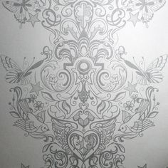 Sinbad Silver White Wallpaper by Graham and Brown