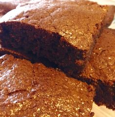 The most delicious, moist, fudgy brownie EVER!! And it's gluten and dairy free!!