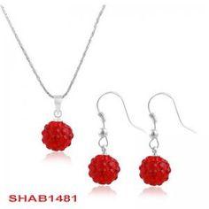 Fashion bride bridesmaid party jewelry Disco balls rhinestone ball necklace set SHAB1481