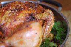 Latin Spice Roast Chicken with Chimichurri Sauce