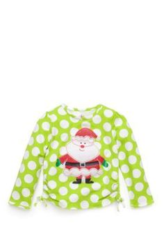 J Khaki   Polka Dot Santa Tee Toddler Girls