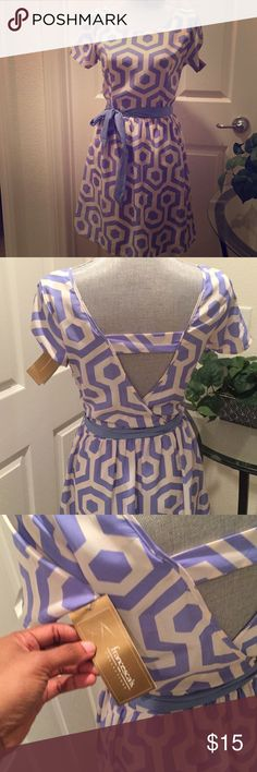 NWT Periwinkle Dress New with tags dress from Francesca's Collections. Perfect for spring or for church Francesca's Collections Dresses Mini