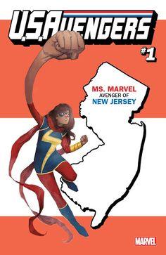 Confira as 54 capas variantes de US Avengers com os estados americanos feita por Rod Reis ~ Universo Marvel 616