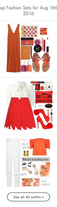 """""""Top Fashion Sets for Aug 16th, 2016"""" by polyvore ❤ liked on Polyvore featuring Kayu, K. Jacques, La Grolla, Anastasia Beverly Hills, Essie, Urban Decay, Sloane Stationery, Lamy, Miu Miu and Clare V."""