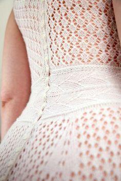 ''Silvermine'' wedding dress knitting pattern by Stephanie Klose