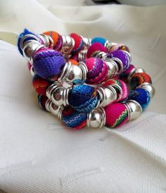 3 Peruvian bracelets colorful woven bead bracelets with by PeruNz, $20.00