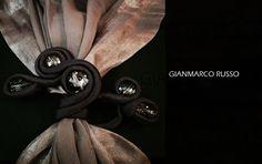 Gianmarco Russo - Stola gioiello - silk - handmade - limited edition -