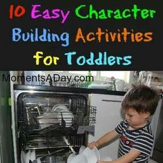 Activities for character building for toddlers