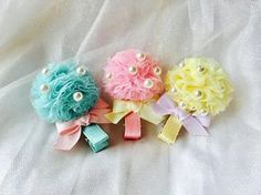 Baby hair clips toddler hair clips girls hair clips tulle Toddler Hair Clips, Baby Hair Clips, Baby Girl Headbands, Flower Hair Clips, Baby Bows, Baby Girl Hair Accessories, Diy Hair Bows, Boutique Hair Bows, Tictac