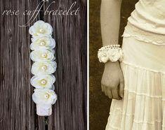 Rose and #pearl cuff bracelet
