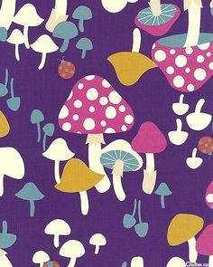 Mushroom Village - Purple